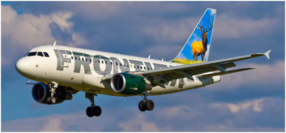 frontier review plane