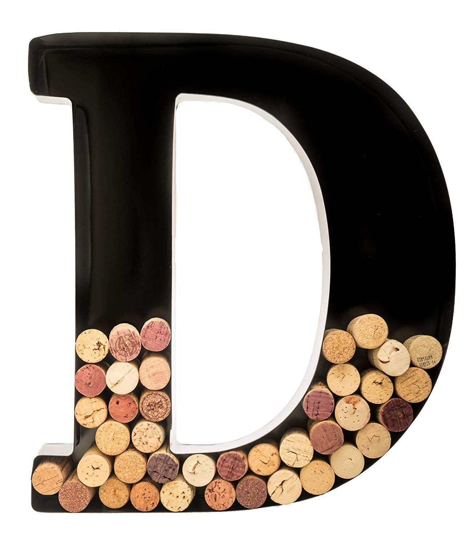 best wine gifts monogrammed letters cork holder